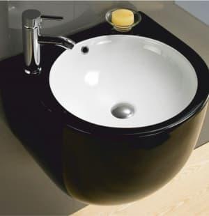 Раковина для ванной черная подвесная MELANA MLN-500FBW