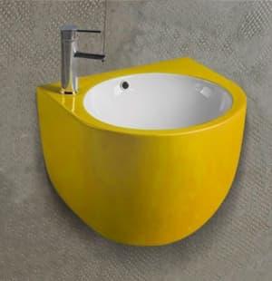 Раковина для ванной подвесная желтая MELANA MLN-500FYW