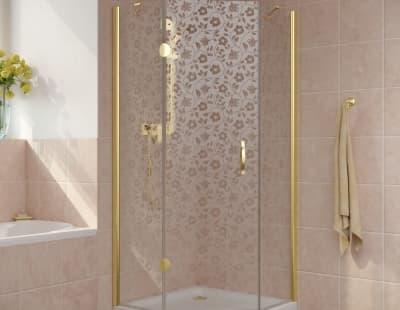 Душевой уголок Vegas-Glass AFA-Pen Lux 0100 профиль золото стекло жасмин R