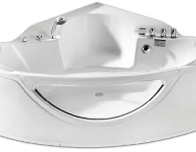 С гидромассажем акриловая ванна Gemy G9025 II C 155 угловая 155x155