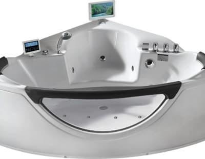 С гидромассажем акриловая ванна Gemy G9025 II O 155 угловая 155x155