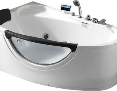 С гидромассажем акриловая ванна Gemy G9046 O L 161 асимметричная 161x96