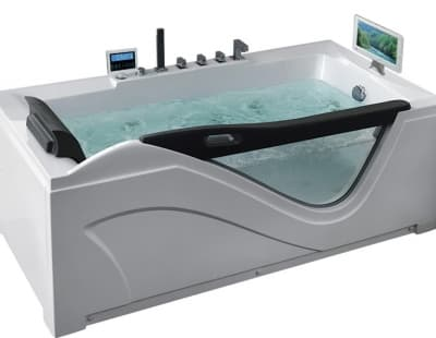 С гидромассажем акриловая ванна Gemy G9055 O R 181 прямоугольная 181x92
