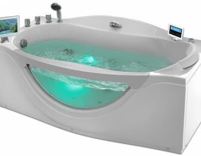 С гидромассажем акриловая ванна Gemy G9072 O L 171 прямоугольная 171x92