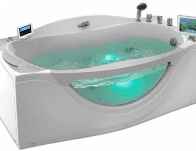 С гидромассажем акриловая ванна Gemy G9072 O R 171 прямоугольная 171x92