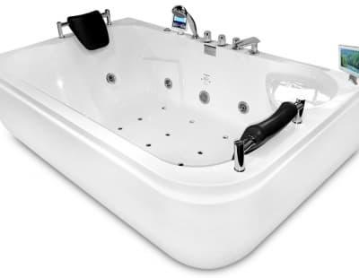 С гидромассажем акриловая ванна Gemy G9085 O L 180 прямоугольная 180x116