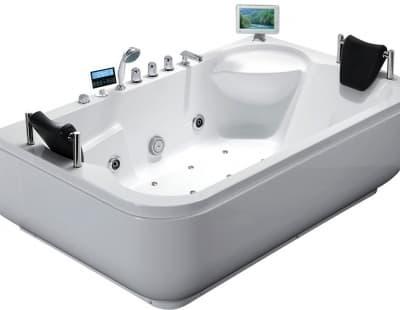С гидромассажем акриловая ванна Gemy G9085 O R 180 прямоугольная 180x116