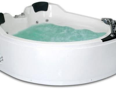 С гидромассажем акриловая ванна Gemy G9086 B L 170 асимметричная 170x133