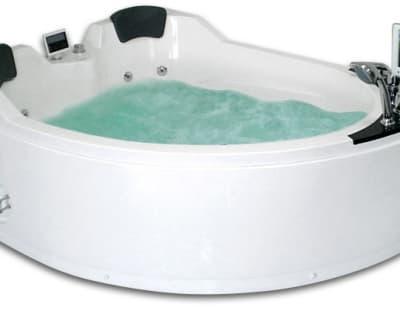 С гидромассажем акриловая ванна Gemy G9086 O L 170 асимметричная 170x133