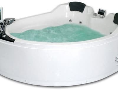 С гидромассажем акриловая ванна Gemy G9086 O R 170 асимметричная 170x133