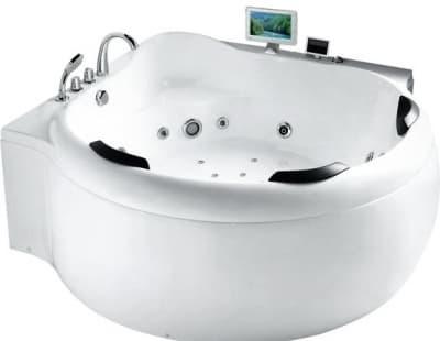 С гидромассажем акриловая ванна Gemy G9088 O 185 угловая 185x185