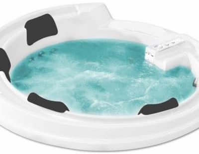 С гидромассажем акриловая ванна Gemy G9090 K 190 круглая 190x190