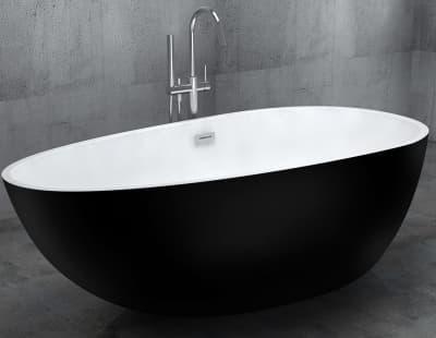 Акриловая ванна Gemy G9211B 170 овальная 170x85