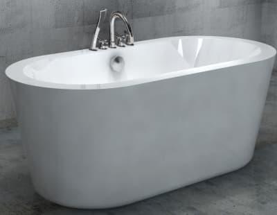 Акриловая ванна Gemy G9213C 170 овальная 170x80