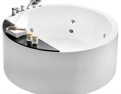 С гидромассажем акриловая ванна Gemy G9230 K 150 круглая 150x150