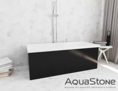 Ванна из литьевого мрамора Aquastone Армада 150x74 черная прямоугольная 150