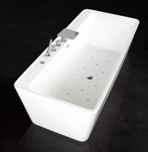 Гидромассажная ванна BelBagno BB19-BIA/NERO-BIA аэромассаж BB19.10A.CR (хром)