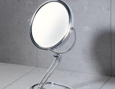 Gedy, настольное 2-х стороннее косметическое зеркало с 5-ти кратным увеличением, цвет хром CO2019(13)
