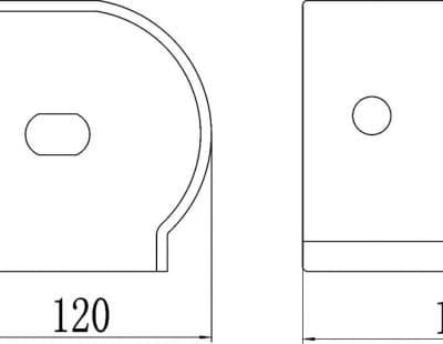 Бумагодержатель, хромированный, нержавеющий Savol S-002054