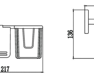 Бумагодержатель и держатель освежителя воздуха Savol S-L07051