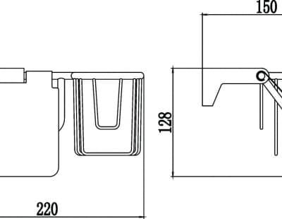 Бумагодержатель и держатель освежителя воздуха Savol S-L07351