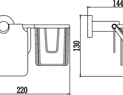Бумагодержатель и держатель освежителя воздуха Savol S-L08751