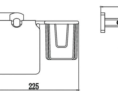 Бумагодержатель и держатель освежителя воздуха Savol S-L09951
