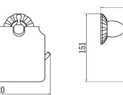 Бумагодержатель и держатель освежителя воздуха Savol S-R8951C