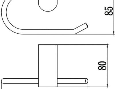 Бумагодержатель открытый Savol S-007352