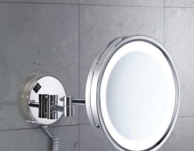 Gedy, G-Vincent, настенное косметичес. зеркало с 5-и кратным увеличением и LED подсветкой, цвет хром 2118(13)