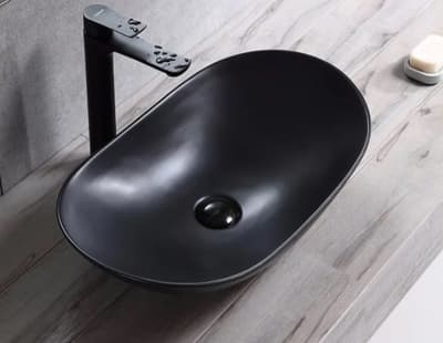 Черная матовая керамическая раковина Gid Bm9811