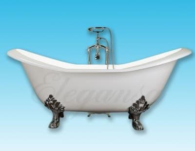 """Ванна чугунная ELEGANSA """"TAISS"""" chrome Н0000133 180x80 овальная"""