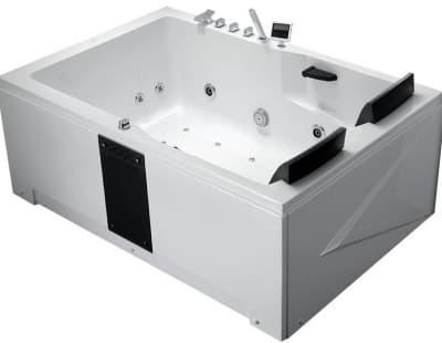 С гидромассажем акриловая ванна Gemy G9061 K L 181 прямоугольная 181x121