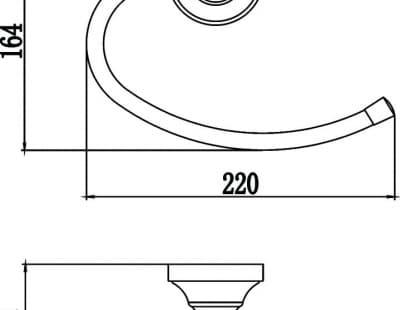 Держатель для полотенец кольцевой Savol S-06860B