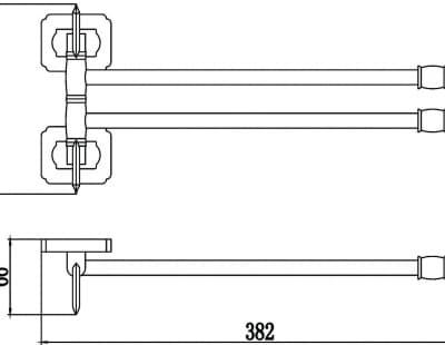 Держатель для полотенец поворотный (2-ой) Savol S-006402