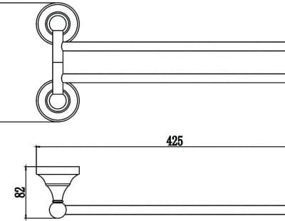 Держатель для полотенец поворотный (2-ой) Savol S-06802B