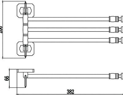 Держатель для полотенец поворотный (3-ой) Savol S-006403