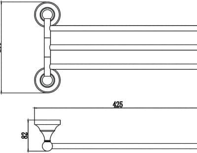 Держатель для полотенец поворотный (3-ой) Savol S-06803B