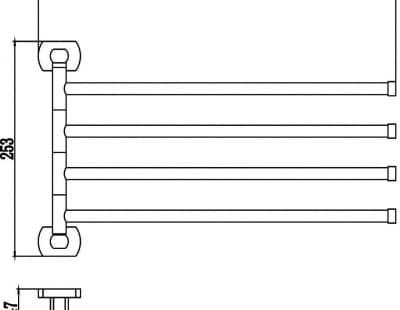 Держатель для полотенец поворотный (4-ой) Savol S-009904