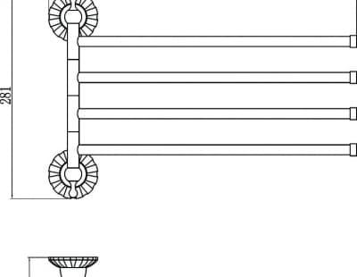 Держатель для полотенец поворотный (4-ой) Savol S-08904С