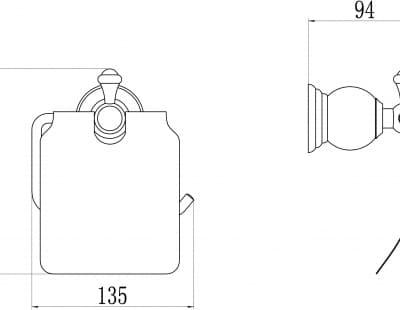 Держатель для туалетной бумаги с крышкой Savol S-05751B