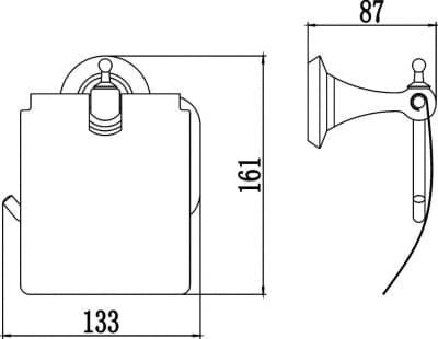 Держатель для туалетной бумаги с крышкой Savol S-06951W