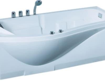 С гидромассажем акриловая ванна Gemy G9010 B R 173 асимметричная 173x83