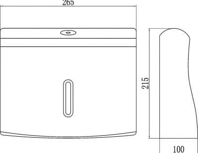 Диспенсер для бумажных полотенец Savol СF8233W