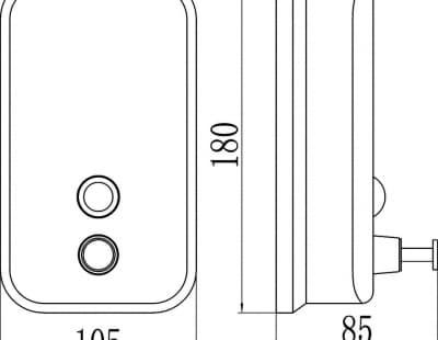 Дозатор для жидкого мыла 0,8 л Savol S-00402