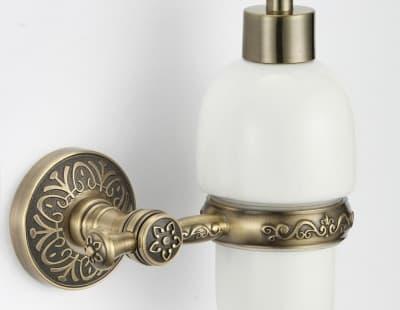 Дозатор для жидкого мыла с настенным держателем Savol S-005831С