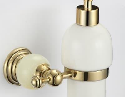 Дозатор для жидкого мыла с настенным держателем Savol S-05731B