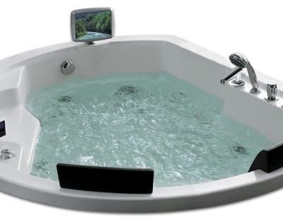 С гидромассажем акриловая ванна Gemy G9053 O 185 нестандартная 185x162