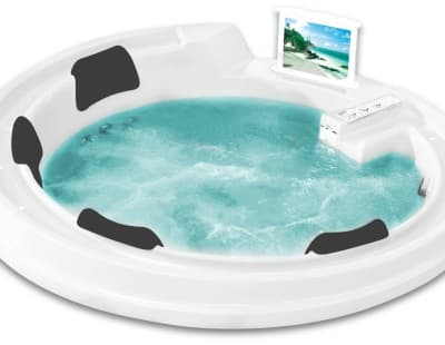 С гидромассажем акриловая ванна Gemy G9090 O 190 круглая 190x190