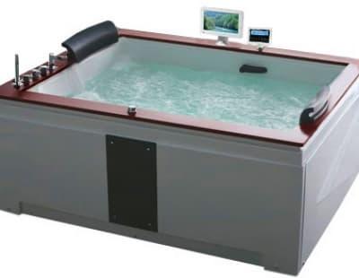 С гидромассажем акриловая ванна Gemy G9052 II O L 186 прямоугольная 186x151